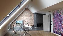 Privatwohnungen und Häuser, individuelle Fassaden- und Wohnraumgestaltung